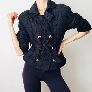 Rare VERSACE Vintage Quilted Jacket XS